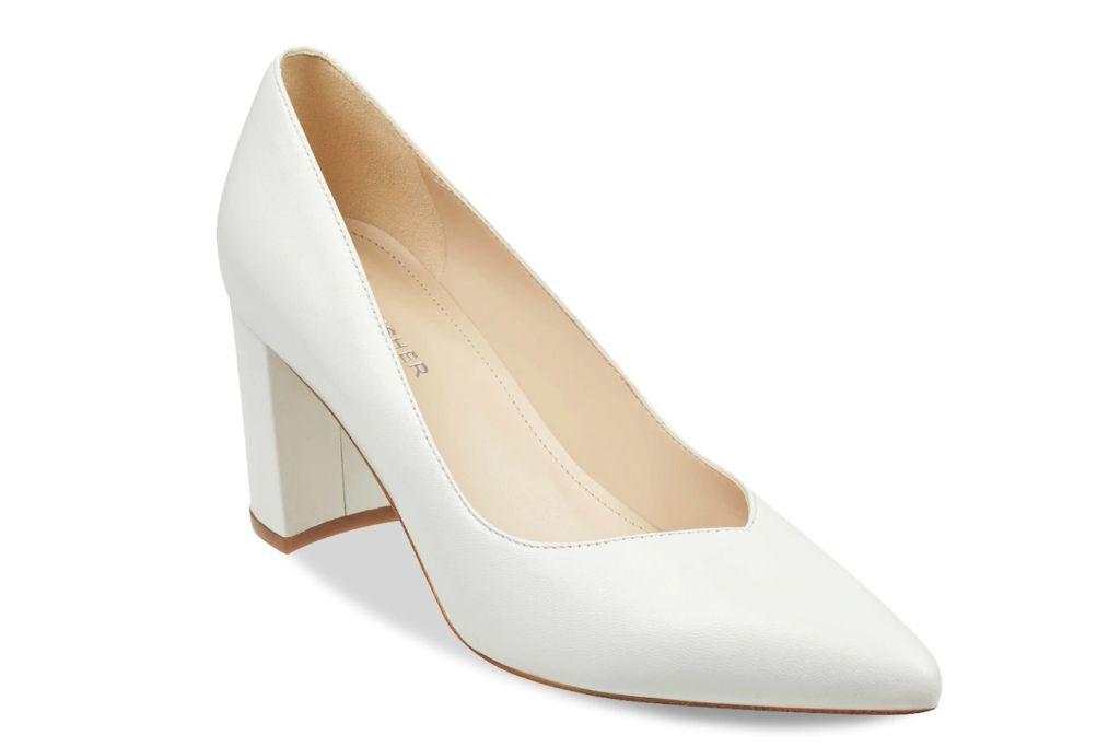 marc fisher, caitlin pump, white heels