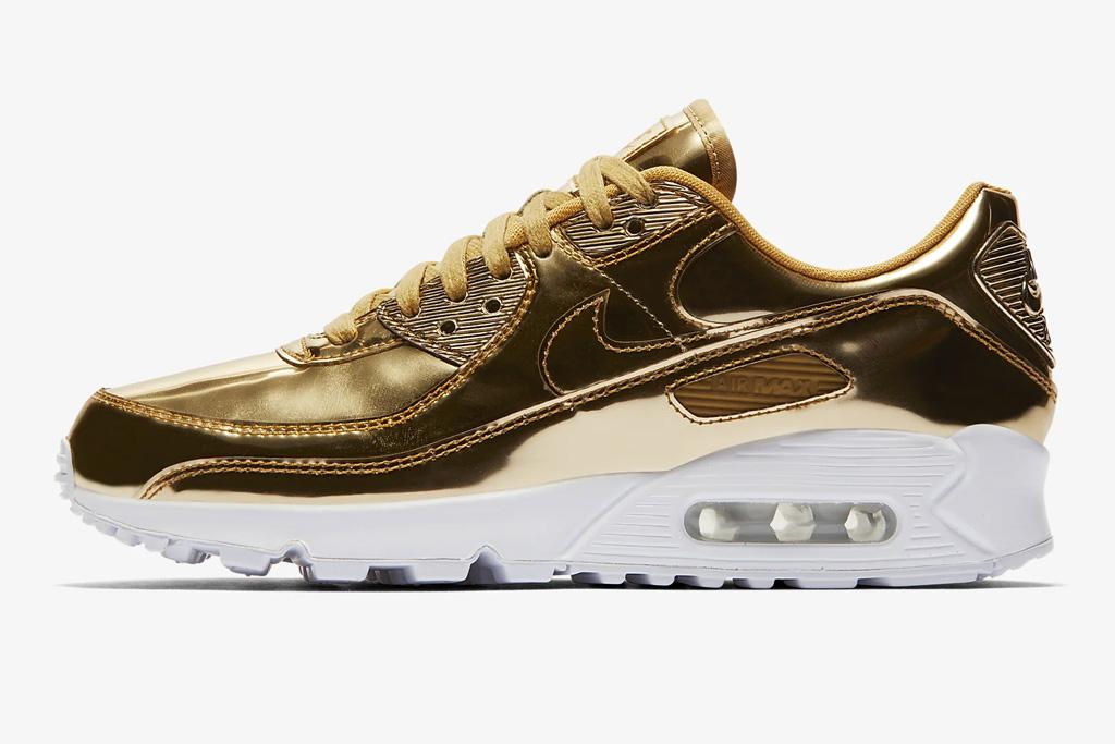 metallic sneakers, nike