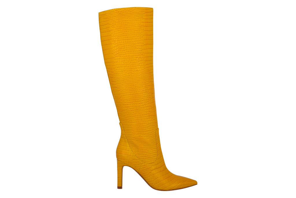 yellow boots, nine west