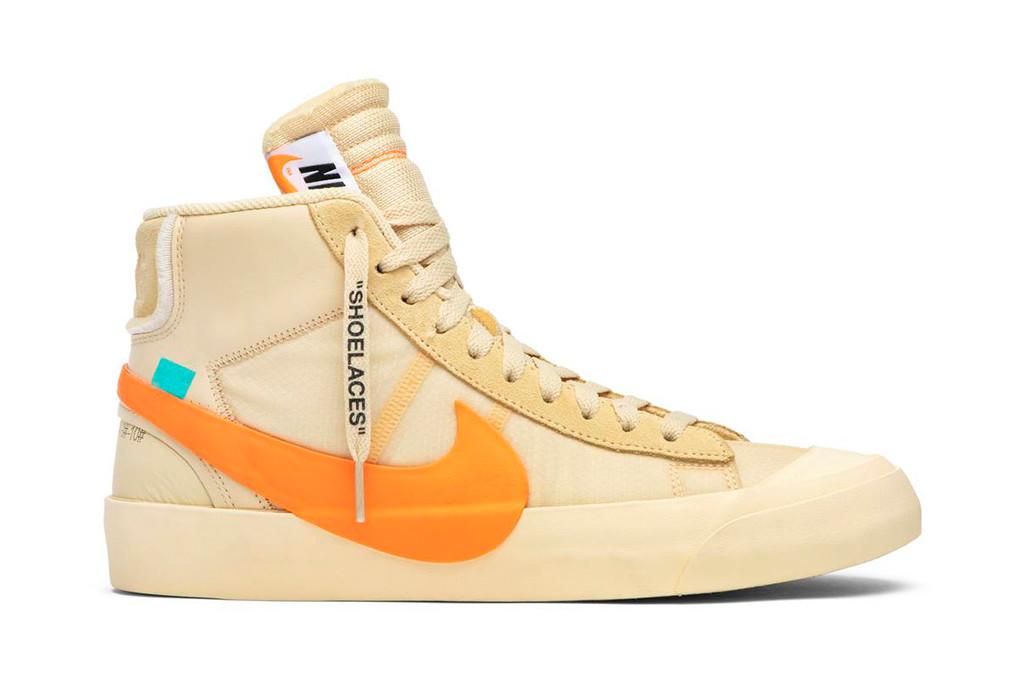 nike blazer, Off-White x Blazer Mid 'All Hallows Eve', off white sneaker
