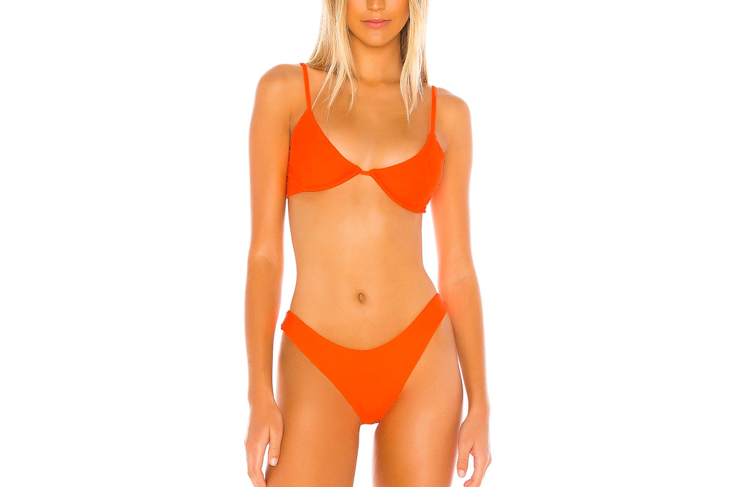 Orange bikini 1 Kylie Jenner Vacations in a Neon Orange Bikini amp Cutout Tangerine Dress 8211 Footwear News