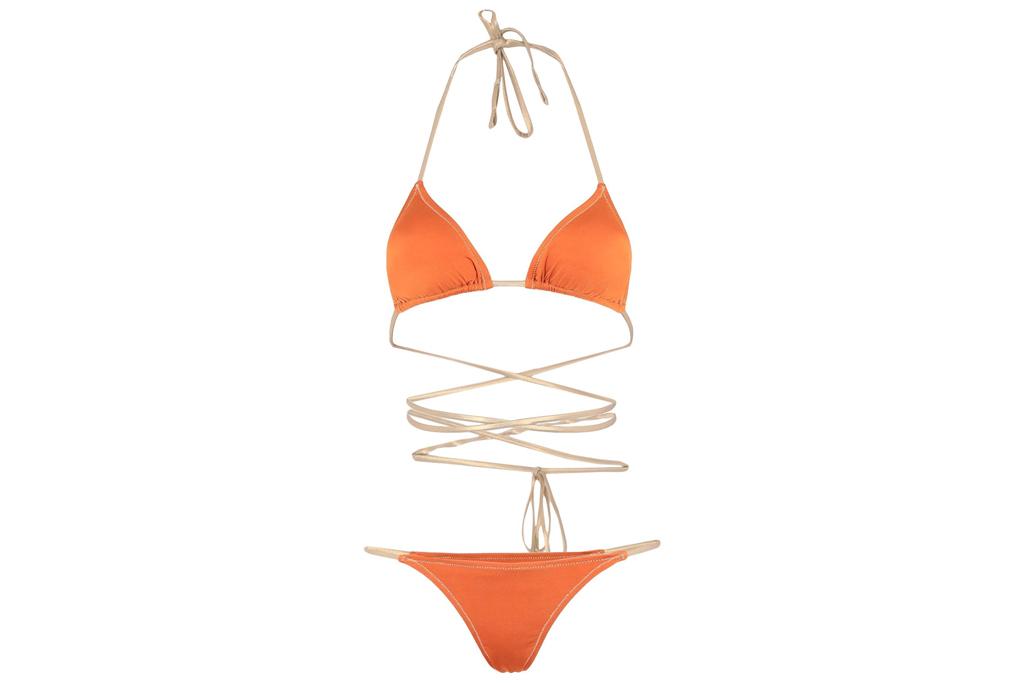 bikini, orange, wrap