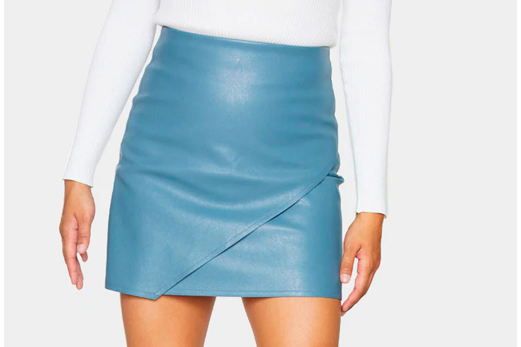pretty little thing, skirt, blue