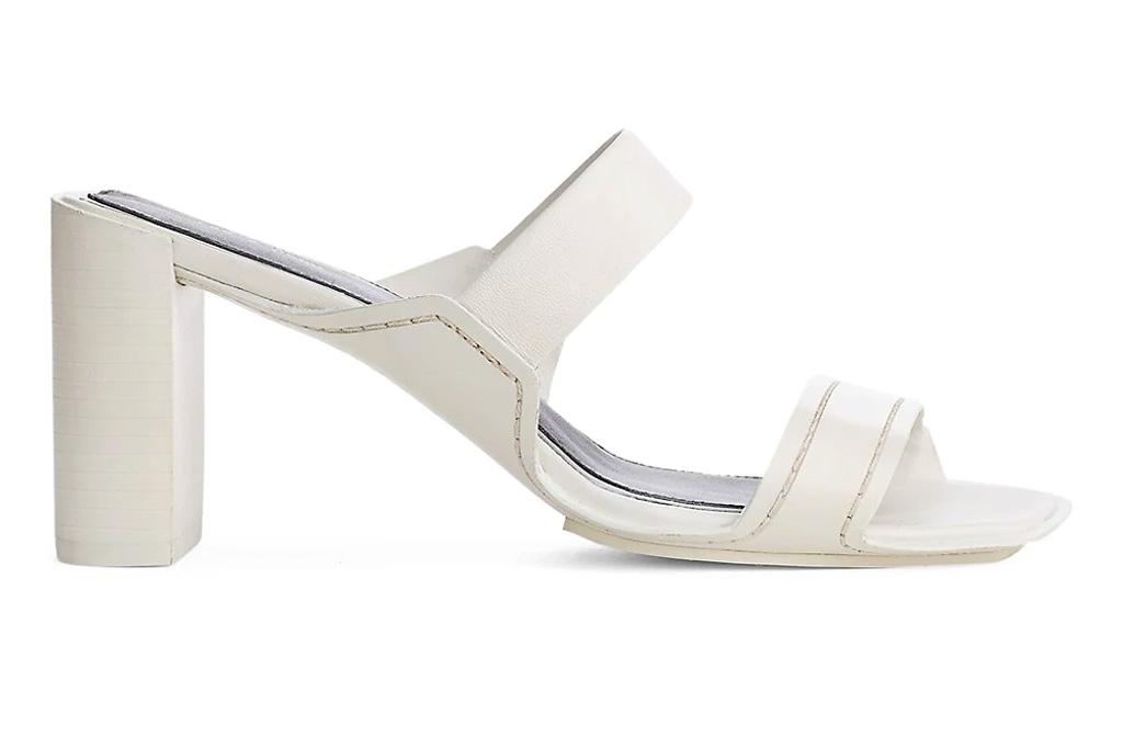white mules, square-toe, rag bone