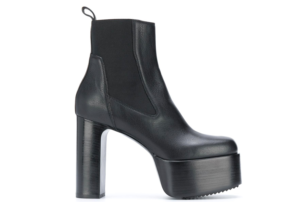 rick owens, platform boots, boots