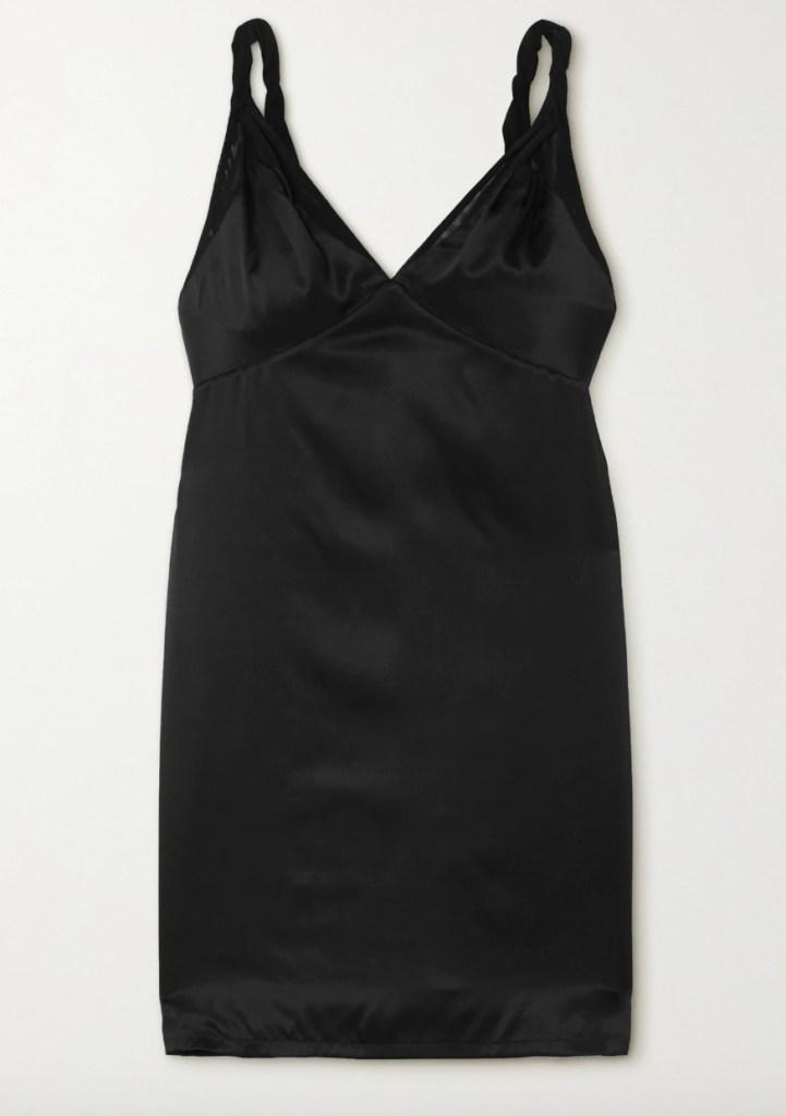 black dress, slip dress, rta