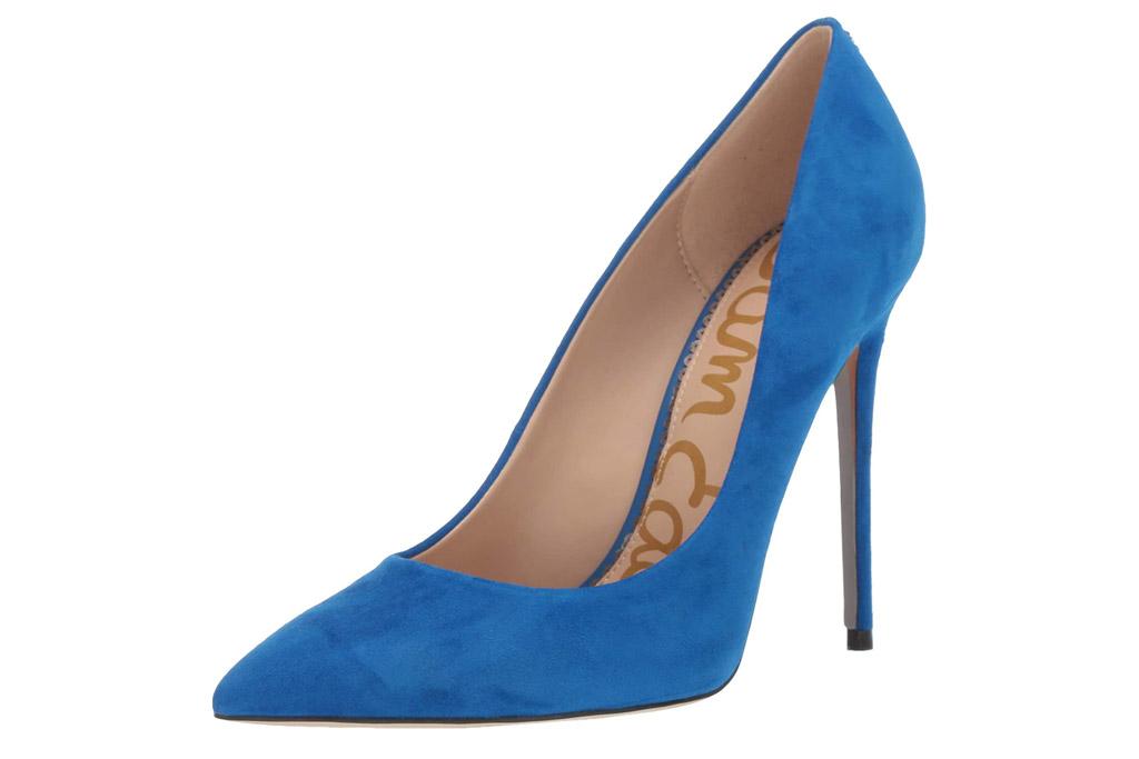 blue heels, sam edelman
