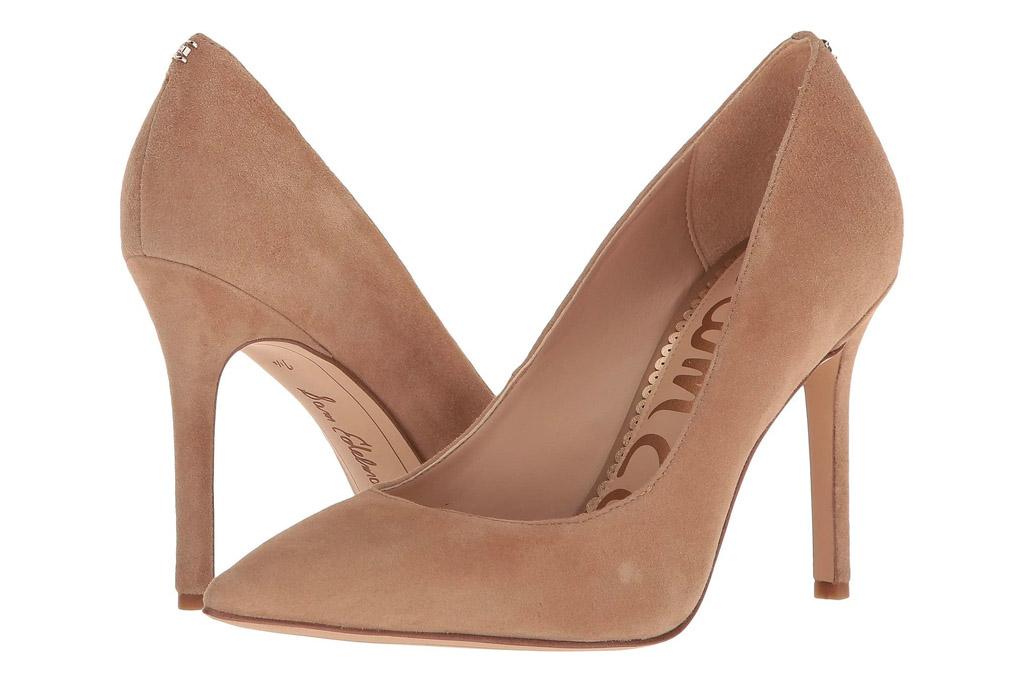nude heels, pumps, suede, sam edelman