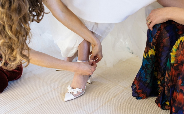 Sarah Flint, wedding, shoes