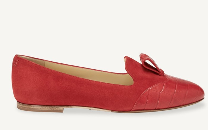 sarah flint shoes, chinese new year shoes, red loafers