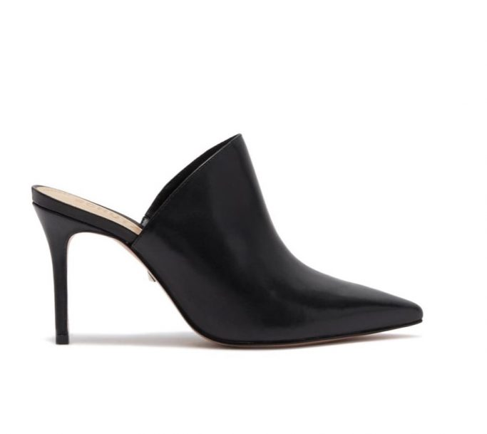 Schutz Bardot Leather Mule