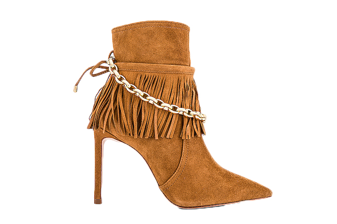 schutz monah fringe boot, chain shoes trend