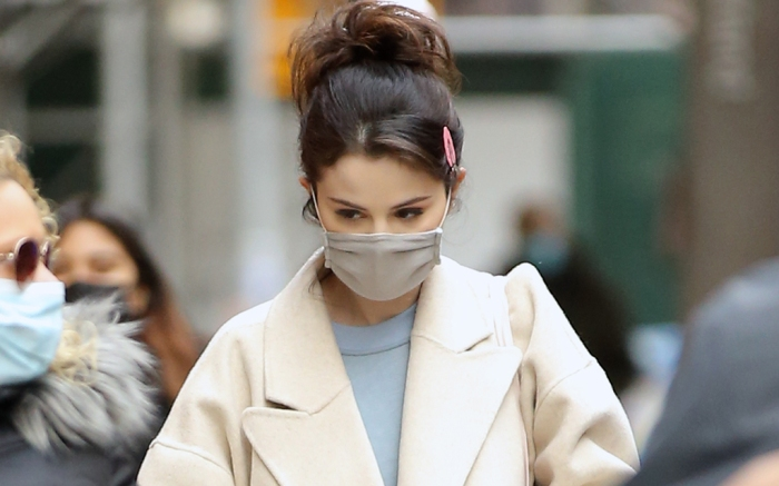 Selena Gomez Walks To Her Trailer On The Set Of 'Only Murders In The Building' In New York City