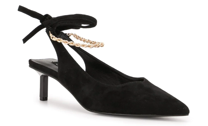 senso-slingback-chain-heels chain shoes trend