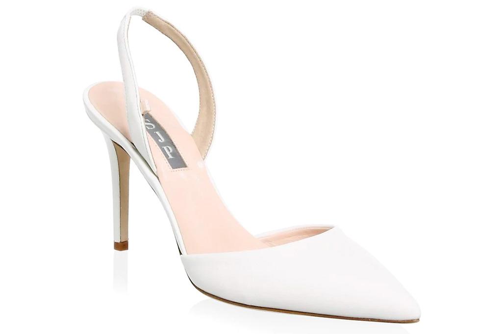 white pumps, heels, sjp