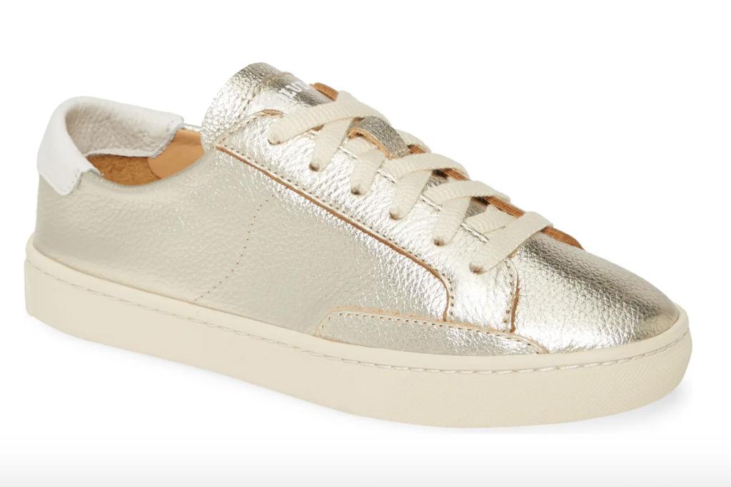 metallic sneakers, soludos
