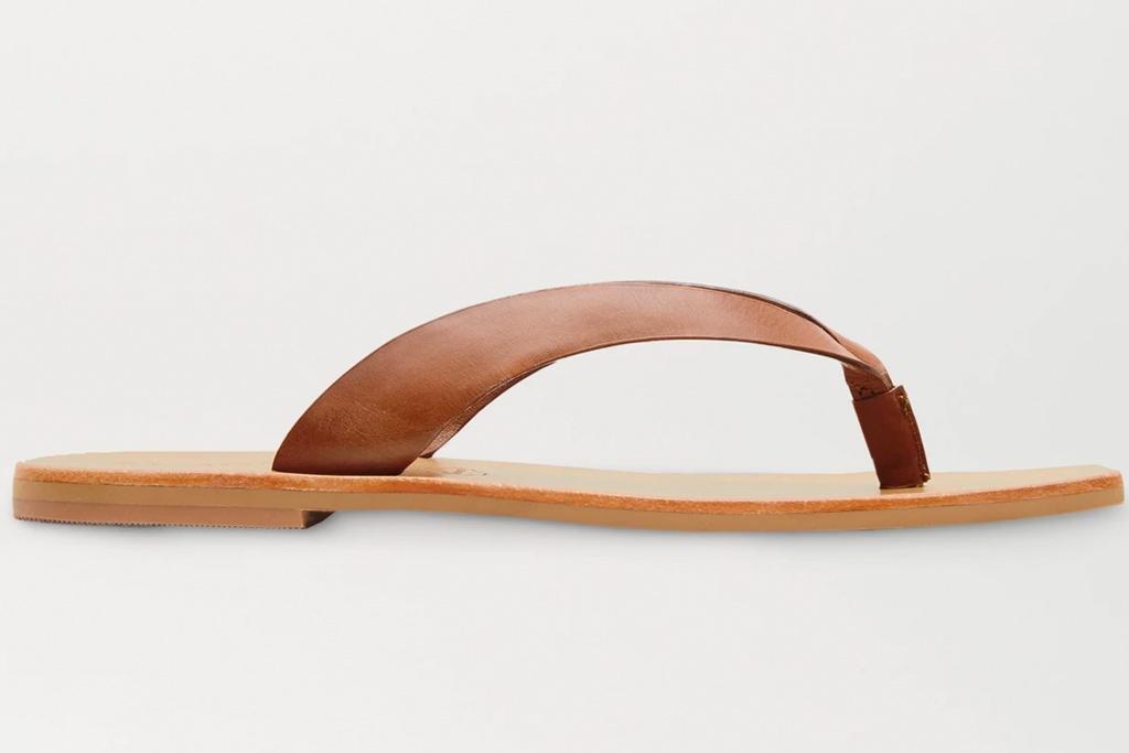 flip flops, tan