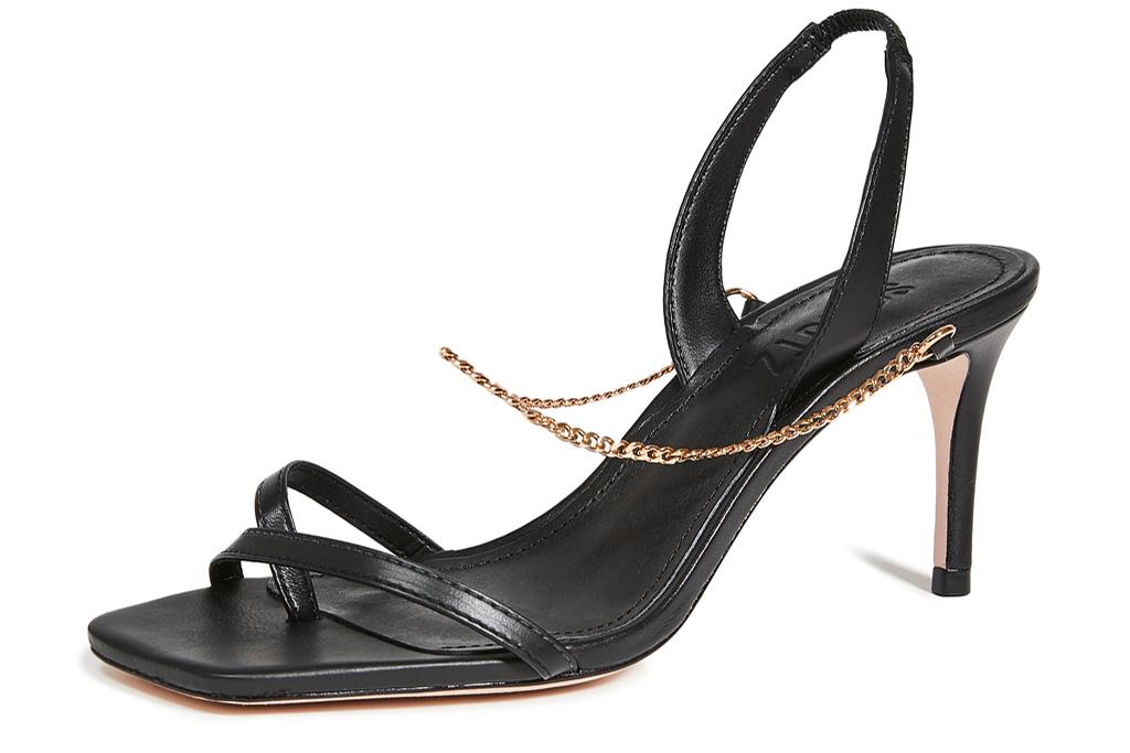 white sandals, chain, schutz