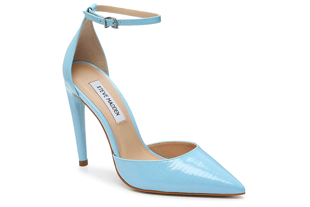 blue heels, steve madden