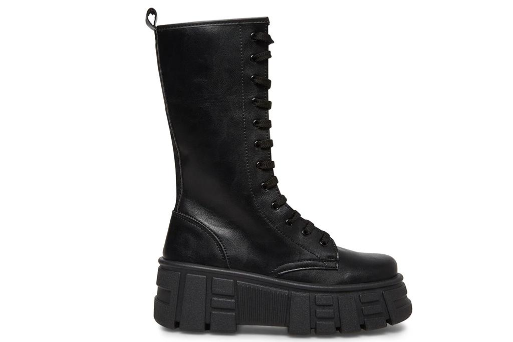 combat boots, lug sole, steve madden