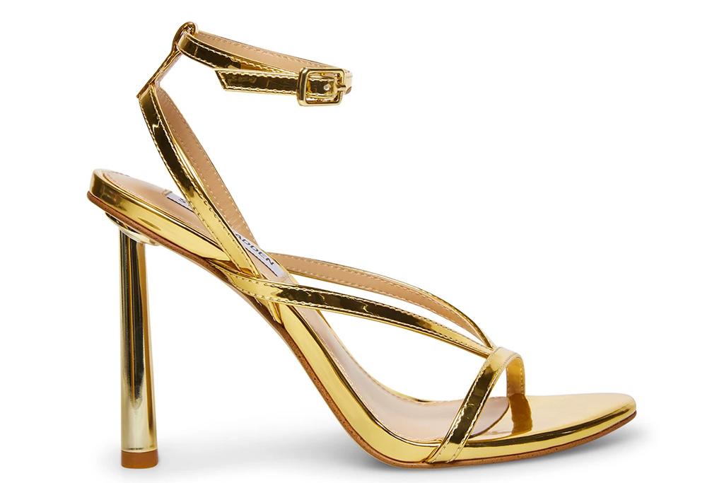 sandals, gold, steve madden