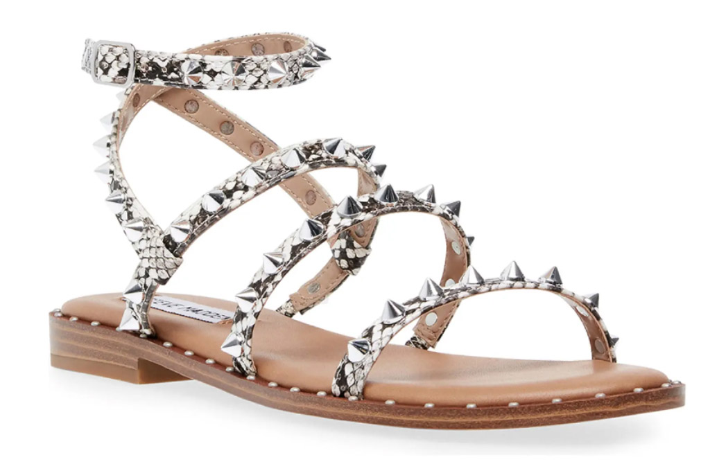 sandals, steve madden, silver