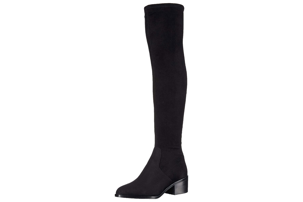 black boots, thigh high, steve madden