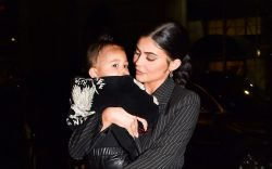Kylie Jenner takes her baby Stormi