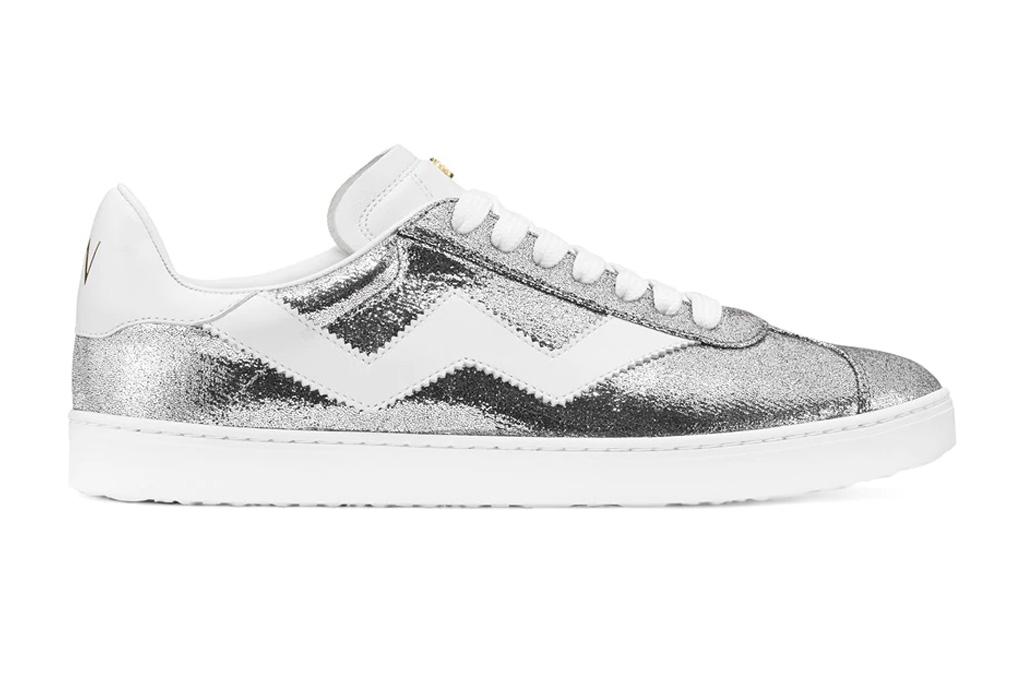 metallic sneakers, stuart weitzman