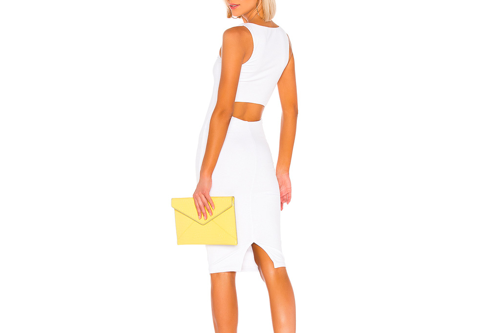 white dress, cutout, superdown