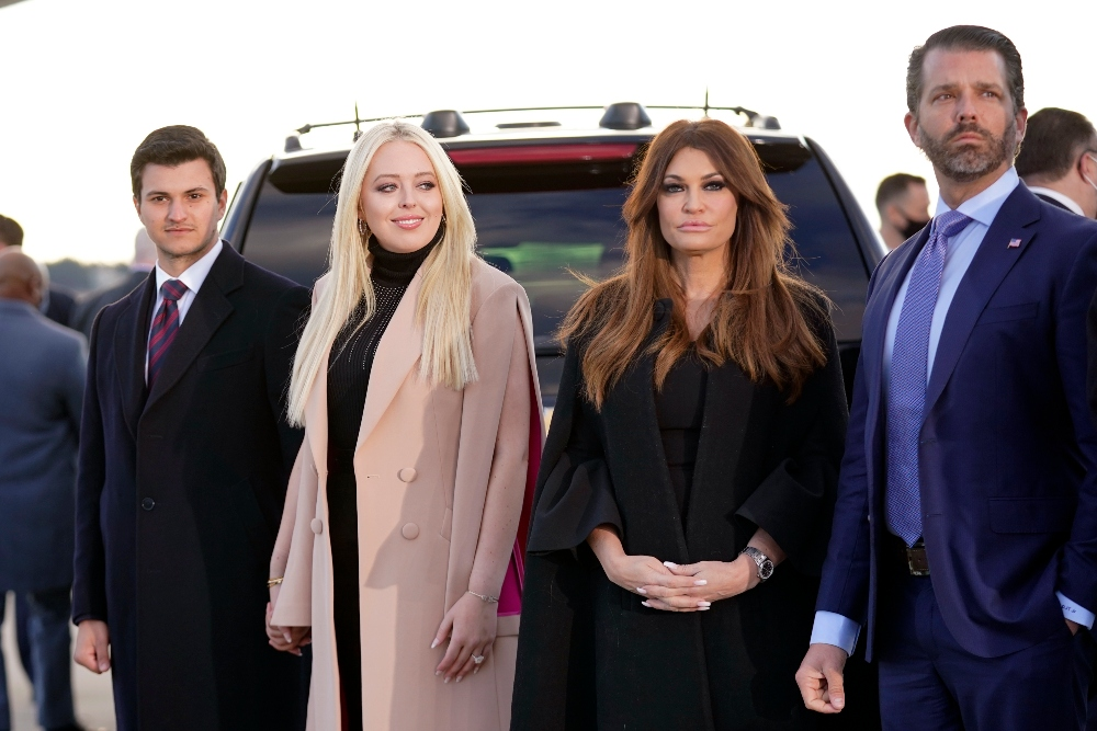 ivanka trump, boots, jeans, tiffany trump, michael boulos, melania trump, donald trump, farewell, leave white house, dress, coat, heels, mar-a-lago, last day