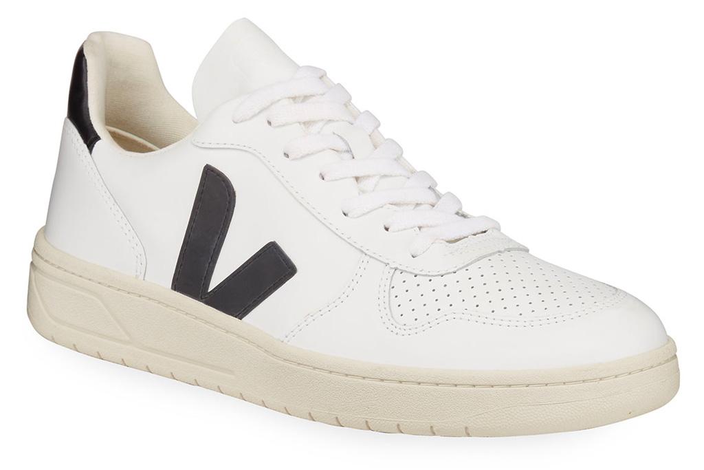 sneakers, white, black, veja