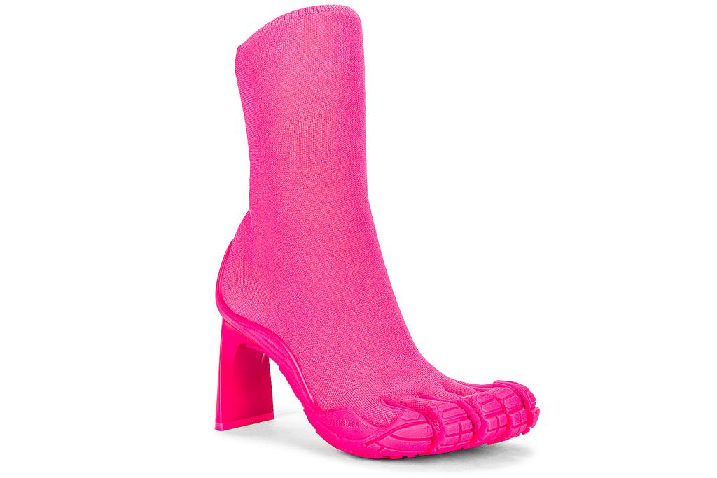 balenciaga, toe boots, vibram, pink