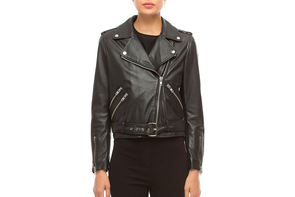 leather jacket, walter baker