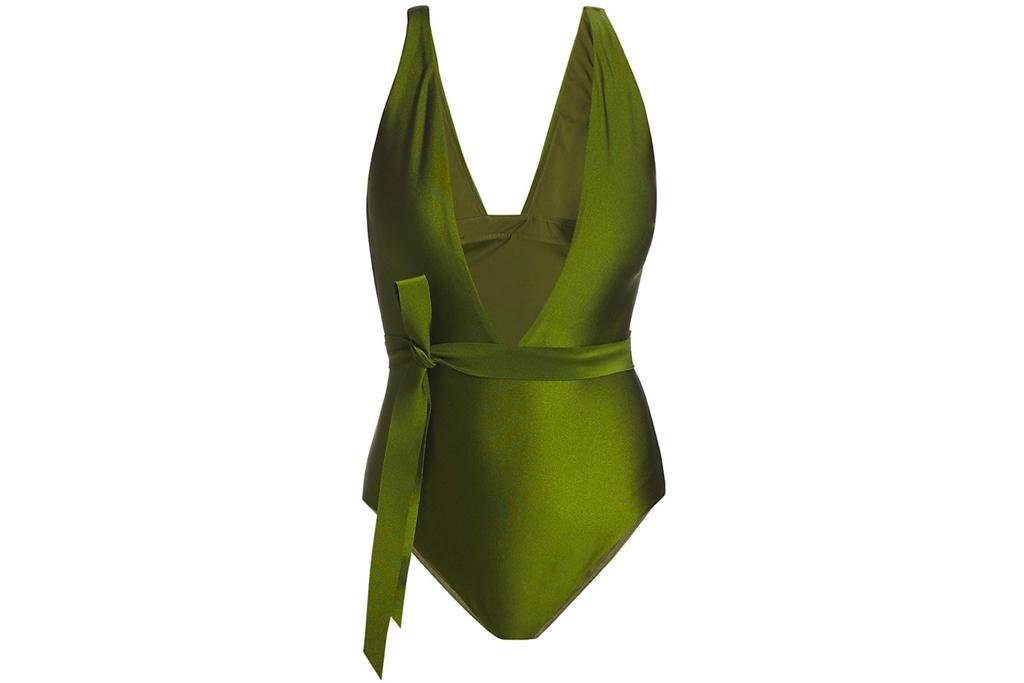 zimmermann, green bathing suit