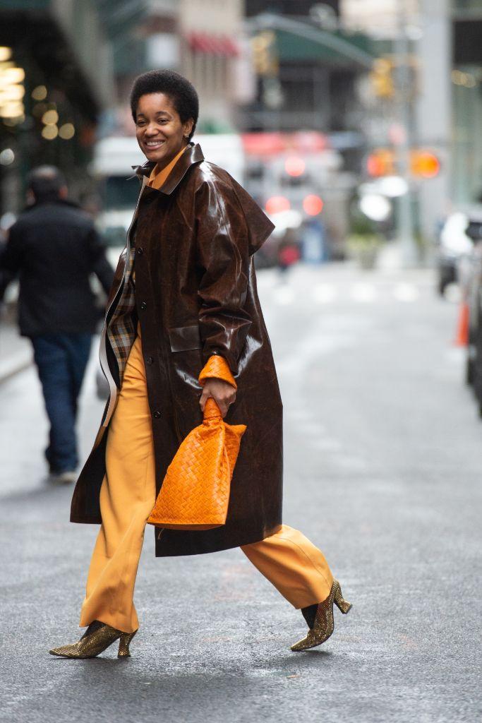 tamu mcpherson, wwd, street style, nyfw, new york fashion week, black history month
