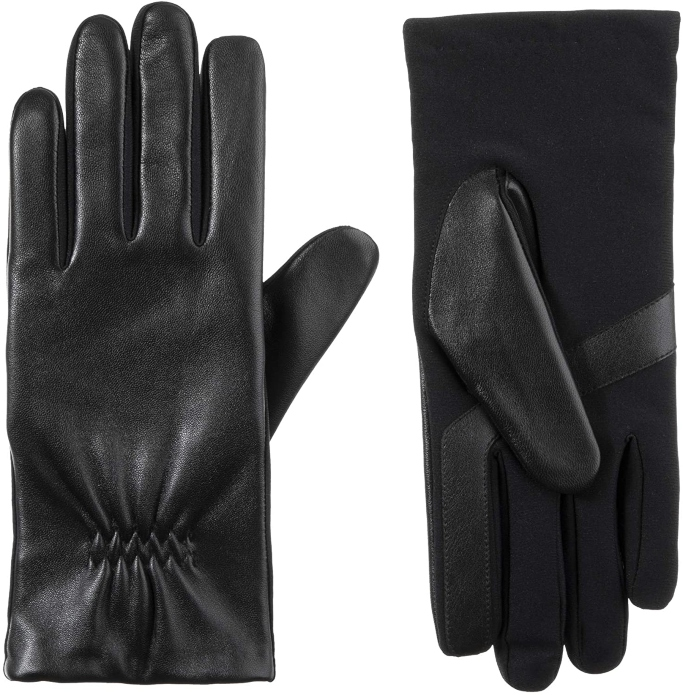 Isotoner Leather Touchscreen Gloves