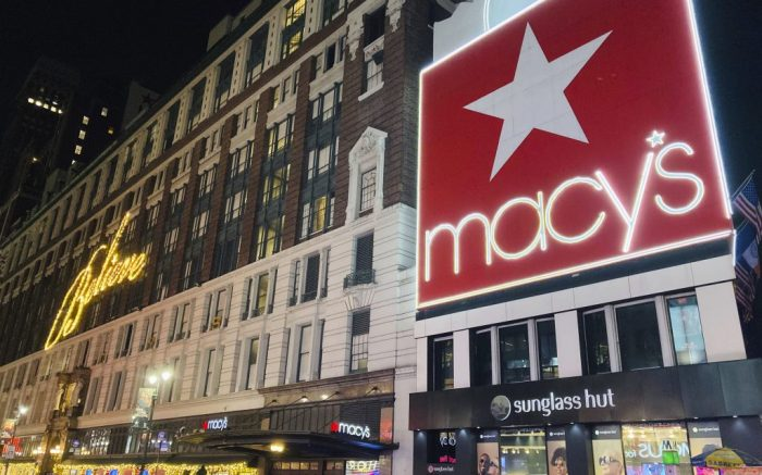 JANUARY 7th 2021: Macy's to permanently close 45 additional stores in 2021. The closures are part of a previously announced restructuring plan to shut 125 stores by 2023. In 2020, approximately 30 stores were closed. - File Photo by: zz/STRF/STAR MAX/IPx 2020 12/23/20 Christmas holiday season atmosphere in Midtown Manhattan, New York City on December 23, 2020 during the worldwide coronavirus pandemic. Here, Macy's Flagship Store in Herald Square - world famous for the Christmas Holiday Window Displays. (NYC)