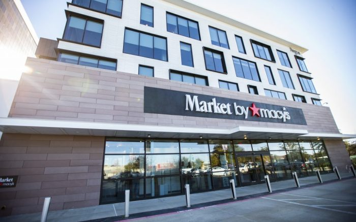 "IMAGE DISTRIBUTED FOR MACY'S INC. - Macy's debuts its second Market by Macy's ""off-mall"" location within the Dallas-Fort Worth area in the WestBend lifestyle shopping center on Jan. 15, 2021 in Fort Worth, TX. (Brandon Wade/AP Images for Macy's Inc.)"