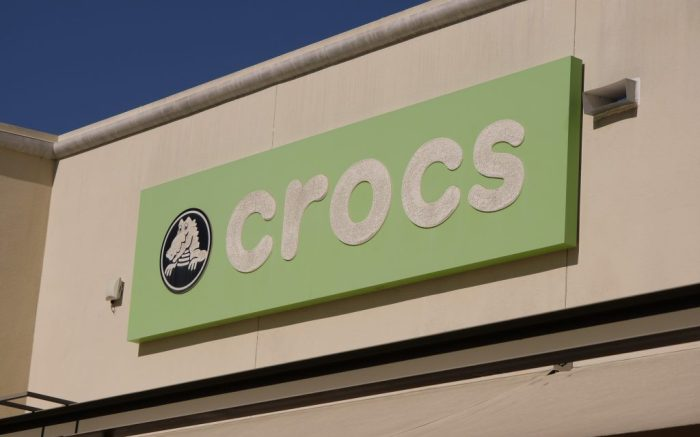 Crocs store at the Citadel Outlets in Commerce, Calif., Feb. 21, 2021. (Ringo Chiu via AP)