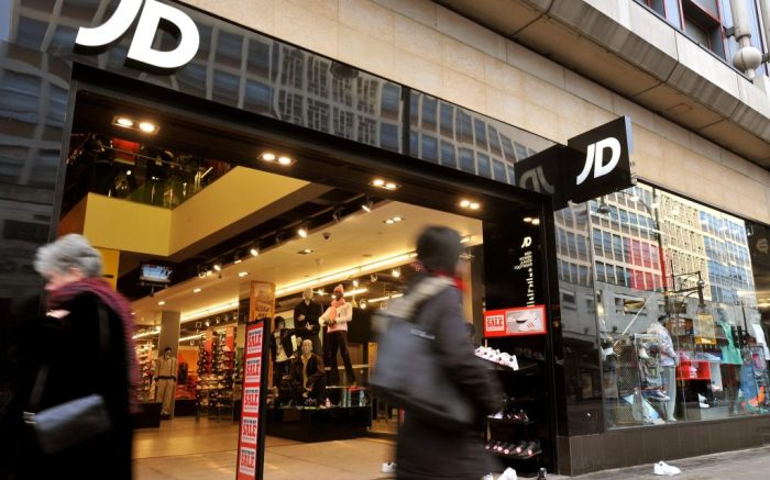 JJB Sports takeover talks.File photo dated 9/1/2009 of the JD Sports shop on Oxford Street, central London. Struggling retailer JJB Sports confirmed it was in takeover talks with high street rival JD Sports Fashion. Issue date: Wednesday February 2, 2011. Reports have suggested that an approach about a deal was made by JD several weeks ago. See PA story CITY JJB. Photo credit should read: John Stillwell/PA Wire URN:10126992