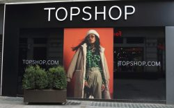 View of a closed up Topshop