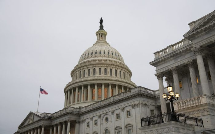 The U.S. Capitol prior to the Article of Impeachment being sent to the Senate, in Washington, D.C., on January 25, 2020. Former President Trump is the first president to be impeached twice, with the Senate trial set to begin February 9. (Graeme Sloan/Sipa USA)(Sipa via AP Images)
