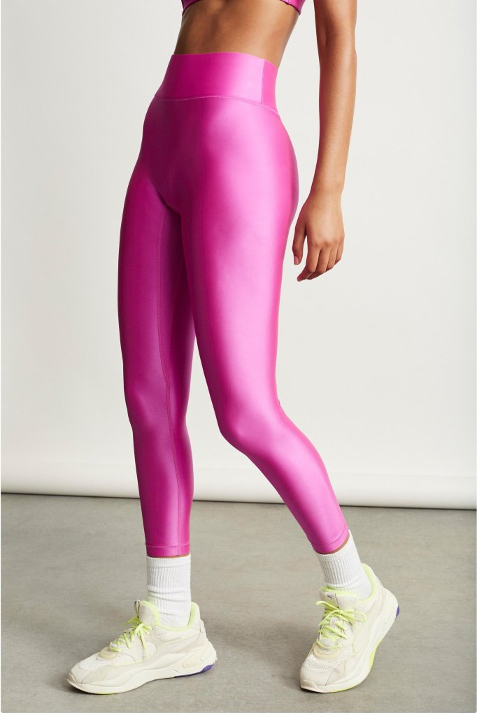 pink top, crop top, workout, leggings