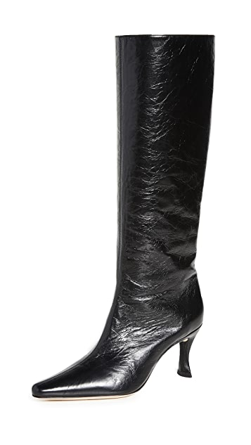 By Far, black knee high boots