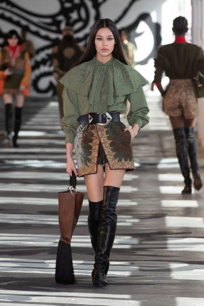 mfw, milan fashion week, milan fashion week top trends, fall 2021 trends, fashion trends, shoes trends, etro