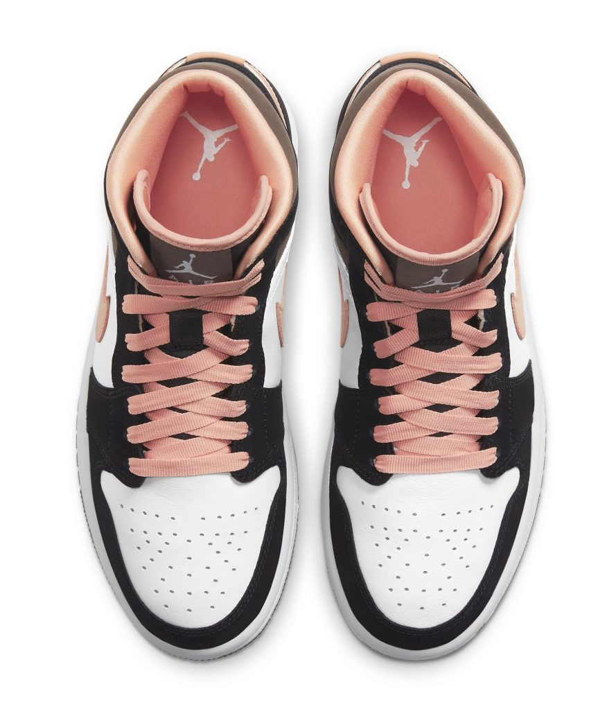 Air Jordan 1 Mid Women's 'Peach Mocha'