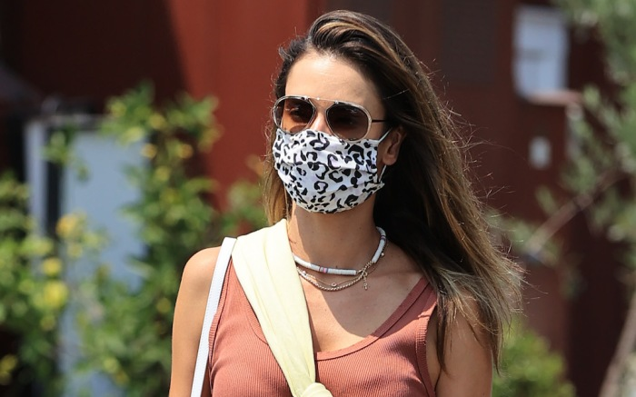 Alessandra Ambrosio looks stylish running errands