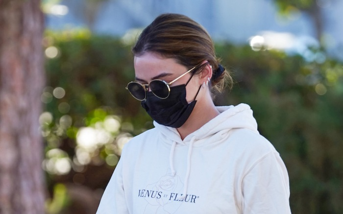 Lucy Hale stops at Alfred Coffee in Studio City