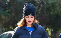 Lucy Hale hiking at Fryman Canyon.